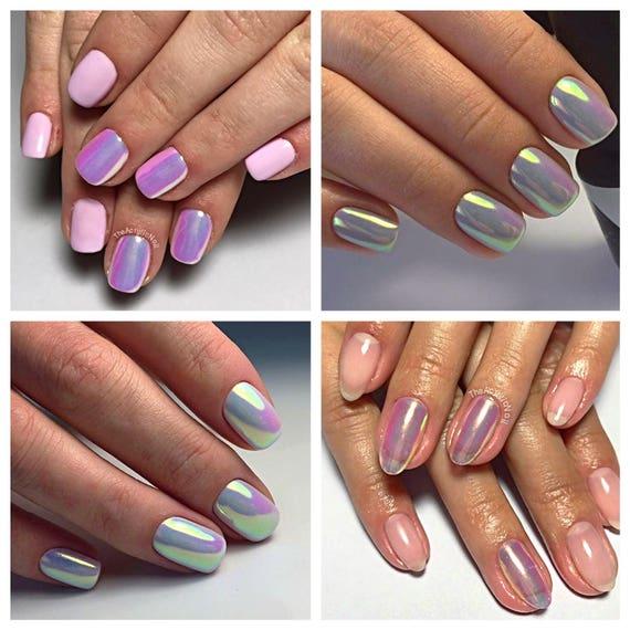 Rainbow Mermaid Unicorn Nail Art Chrome Mirror Powder Pigment