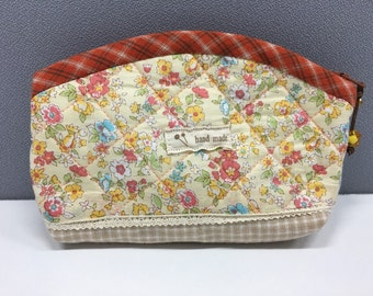 Quilted Cosmetic Bag, Makeup Bag