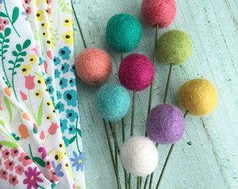 Pom Cluster | Sprouting Spring Pom Flower Bouquet