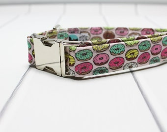 Donut Dog Collar with Metal Side Release Buckle | Unique Dog Collar | Sweet Dog Collar | Made to Order | Doughnut Dog Collar