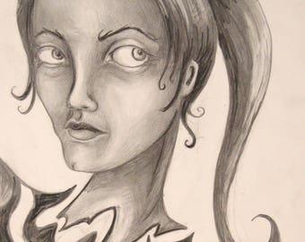 Portrait Sketch Print