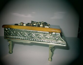 Piano Music Box - 1940's Swiss Made Grand Piano - Plays Moon River
