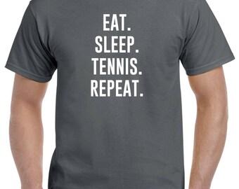 Eat Sleep Tennis Repeat Shirt Tennis Player Gift