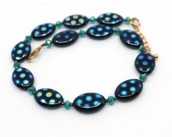 Boho anklet jewelry, custom anklet, gift for her, black