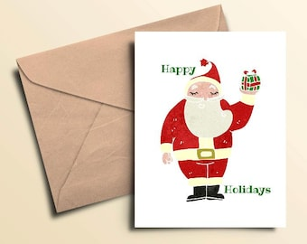 Happy Holiday Santa Seasonal Cards