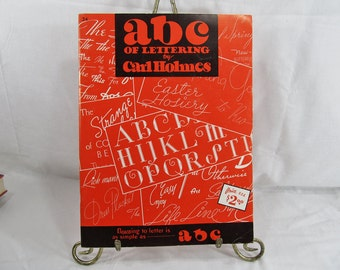 ABC of Lettering By Carl Holmes #34  Carl Holmes Published by Foster Art Service circa 1970's Art Book Oversized