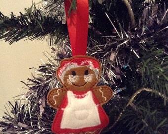 Mrs Claus Christmas decoration, Christmas tree decorations, Gingerbread man, felt christmas ornaments, Christmas decor home, felt decoration