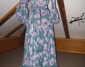 Teal Blue Purple Flamenco Dress
