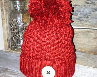 Hat - Hat Rustic Anick knitted hand - Chunky - winter hat - made in Quebec