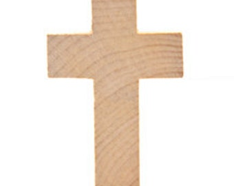 Wooden Cross Cutouts from Birch Plywood 2 3/4 inches