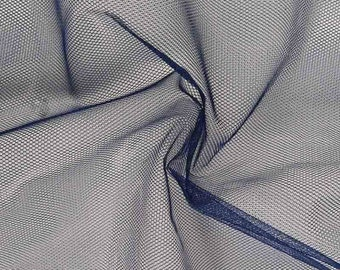 Tulle Netting Dress Fabric 140cm Wide 30 Colour Range - French Blue