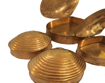 Brass Shell Trinket Boxes Jewelry Boxes