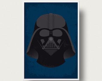 Star wars Darth Vader Movie poster art Print Star Wars Darth vader movie poster Star Wars movies iconic character Anakin Skywalker