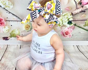 Aztec Corduroy Headwrap- Headwrap, Aztec Head Wrap Baby Head Wrap Baby Headwrap Head Wrap Big Bow Headwrap Toddler Headwrap Girls Headwrap