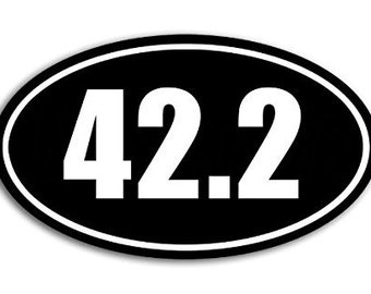 OVAL 42.2 Sticker (marathon kilometers decal)