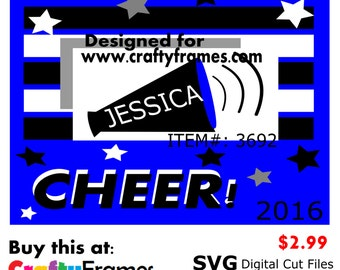 ITEM # CF-3692 - Cheer Blue Black White School Spirit - SVG Cutting Machine File - Instant Download - Commercial Use - 2.99