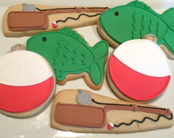 Fishing theme cookies/Father's Day/Dad's birthday/decorated cookies