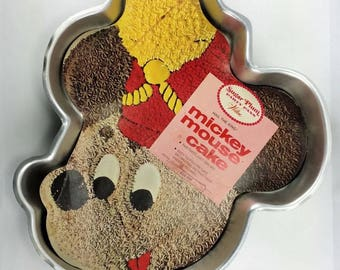 Wilton Mickey Mouse Band Leader Pan and Wilton Pluto Cake Pan - Retired