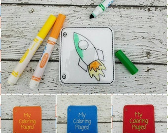 Felt Coloring Pages-Dry Erase