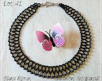 Black necklace with Swarovski beads