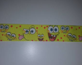 Sponge bob Ribbon 25mm sold by the yard