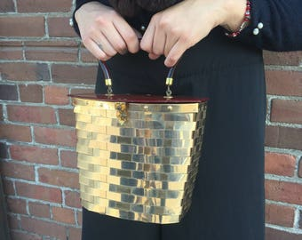 1950s Metal Woven Dorset Rex Box Purse