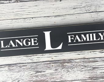 Family Name Sign | Customized with last name | Name sign | handmade | painted sign | wood sign | Wedding Sign | Anniversary | Style #FA54