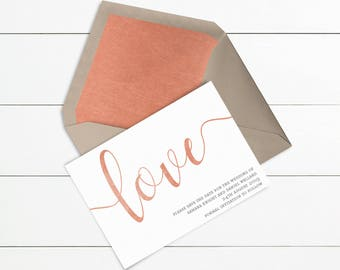 Love Style Save the Date // Sample Only // Wedding Save the Dates // Printed or Printable // Design Code #STD-008