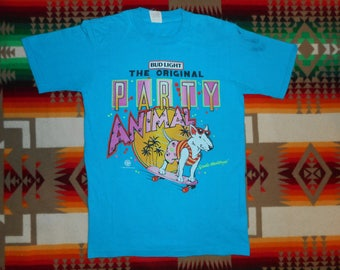 Spuds Mackenzie The Original Party Animal Bud Light T Shirt Size Small