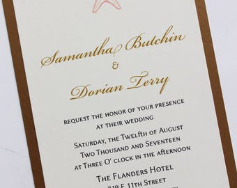 Simply Starfish Wedding Invitation