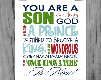 Typography Prince Print- Son of an Almighty God
