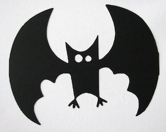Halloween cartoon bat die cut silhouette