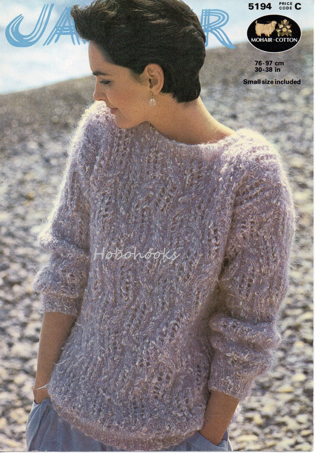 Ladies Lacy Chunky Mohair Sweater 30 To 38 Inch Bust