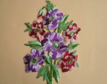 Big flower Appliques - vintage bouquet