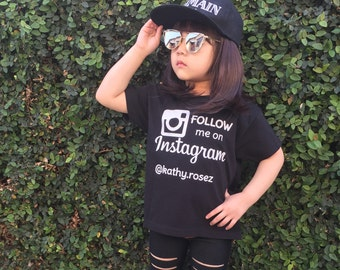 Follow me on instagram, insta handle, instagram shirt, brand rep shirt, kids brand rep, brand reppin' shirt, follow me shirt, personalized
