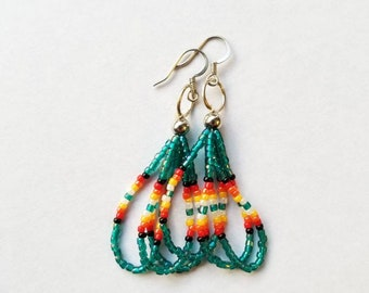 Teal Short Dangle Earrings