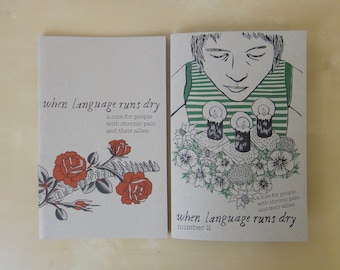 You Choose TWO - Chronic Pain Zine Pack:  When Language Runs Dry
