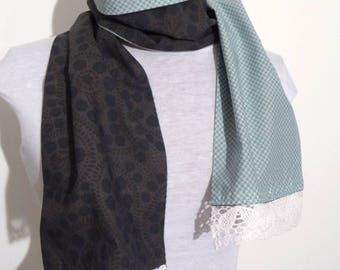 Reversible scarf fabric and lace