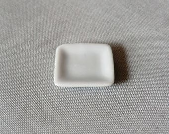 1 x 20mm white porcelain square plate