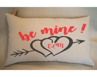 Valentines Day gift for her pillows with sayings Valentine Pillow Personalized Gift Pillow Valentines Day Gift for him Be Mine Valentine