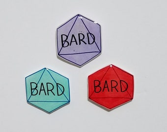 Bard Dungeons and Dragons D8 Button