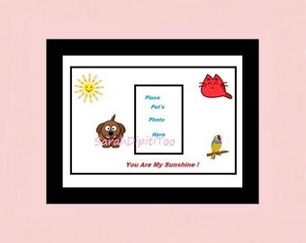 Instant Download You Are My Sunshine Pet Photo Printable Digital Pet Photo Wall Art Pet Owner Gift RememberA Pet Pet Memorial Pet Lover Art