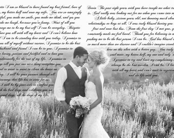Vows On Canvas, Wedding Vows Canvas, Vows Printed On Canvas, Vows Keepsake, Canvas Vows,