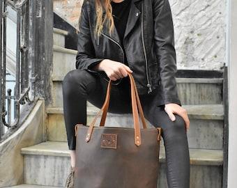 Chocolate Leather No. 14 Shoulder Bag