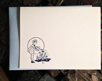 Greeting Card, Garden Girl