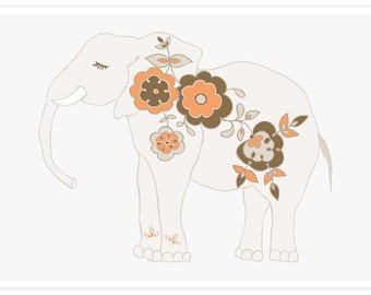 Little Elephant Decor | Elephant Art | Girl's Room