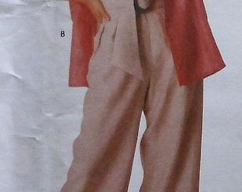 Vogue American Designer ADRI Loose Fitting Jacket Pants Top Sewing Pattern 2298 UNCUT Size 8