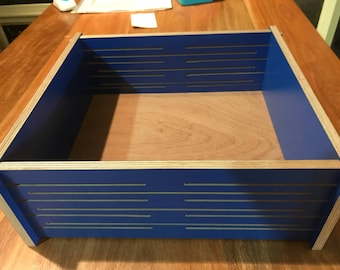 Display / storage box  these boxes snap together without the need for fixings or glue  flat packs for shipping