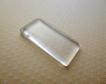 48x24mm - rectangle Cabochon glass 48 x 24 mm - CABRV4824 0980