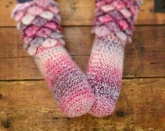 socks / scales fairy slippers handmade crochet